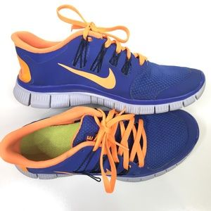 Nike Blue Orange Running Shoes Women's 8.5